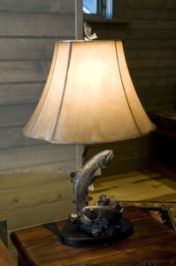 River Suites Trout Lamp